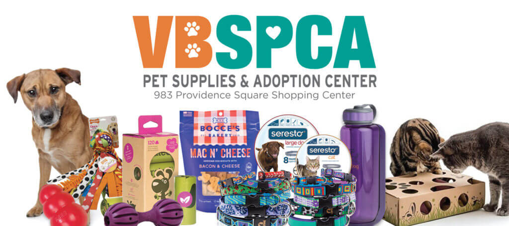 Visit our satellite Pet Supplies and Adoption Center in Kempsville, where you will find adoptable animals and VBSPCA approved pet products.